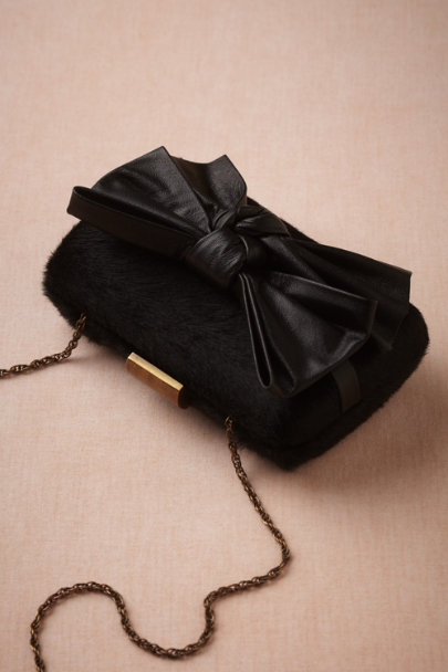 black Thoroughbred Clutch | BHLDN