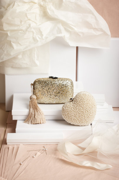 gold/silver Iridium Clutch | BHLDN