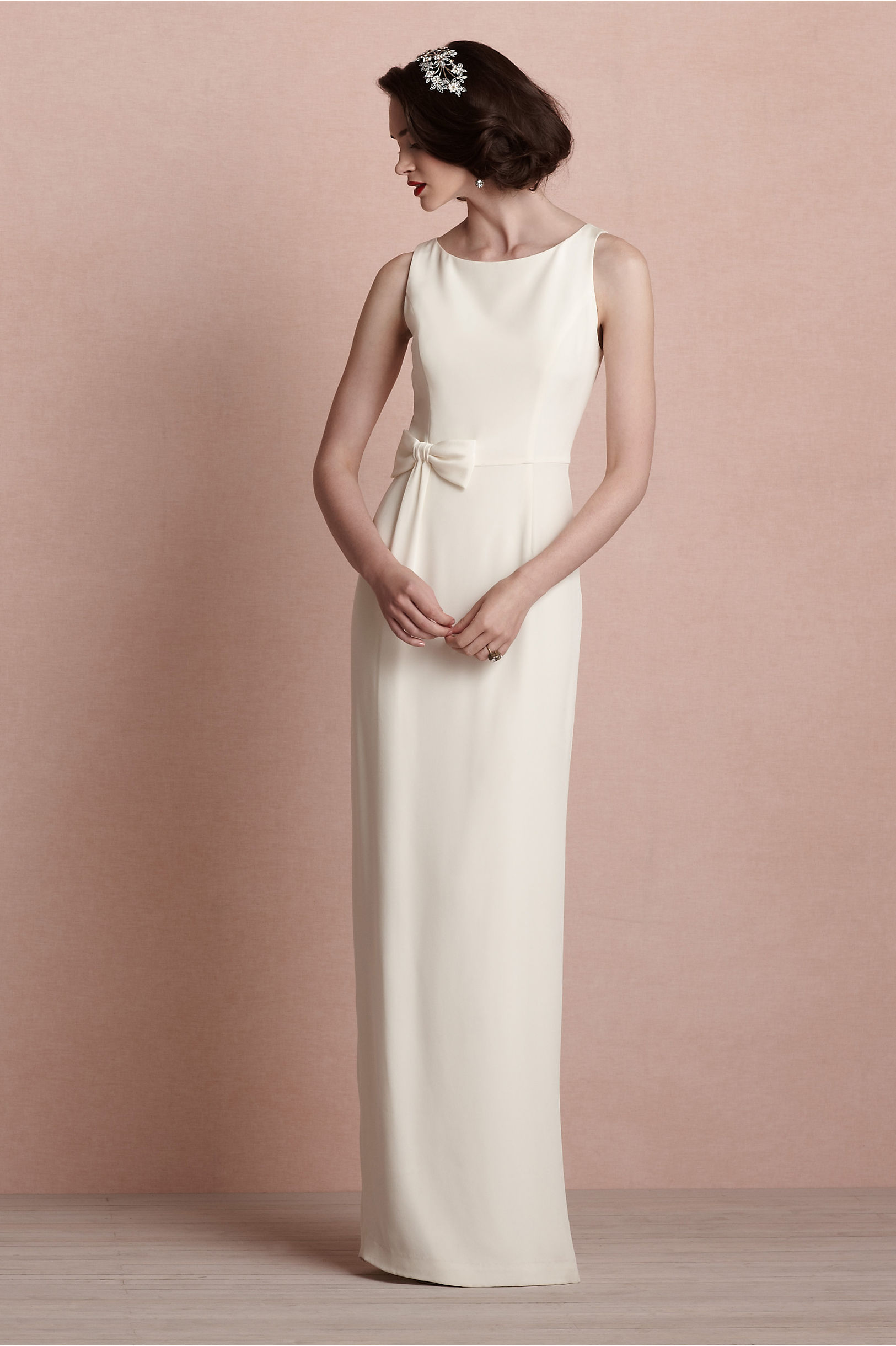 Bouvier Column Gown in Bride | BHLDN