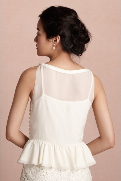 vanilla Zephyr Blouse | BHLDN