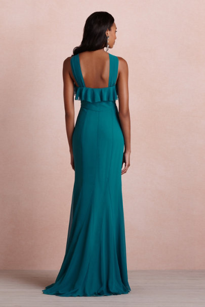teal Wind Wave Dress | BHLDN