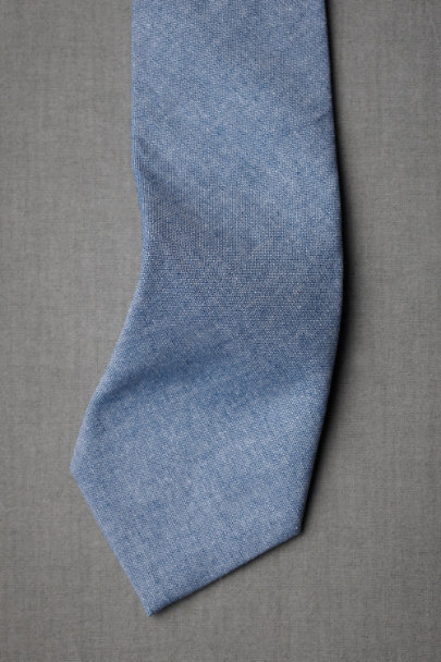 blue Commonwealth Proper Chambray Tie | BHLDN