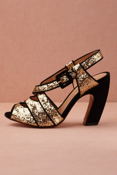 gold Bright Flight Heels | BHLDN