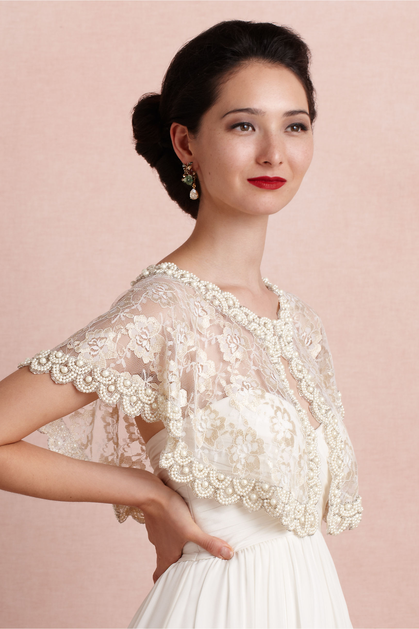 First Light Capelet in Bride | BHLDN