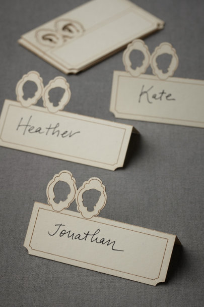 cream Lad + Lass Place Cards (10) | BHLDN