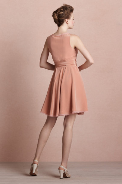 dried apricot Ebb & Flow Wrap Dress | BHLDN