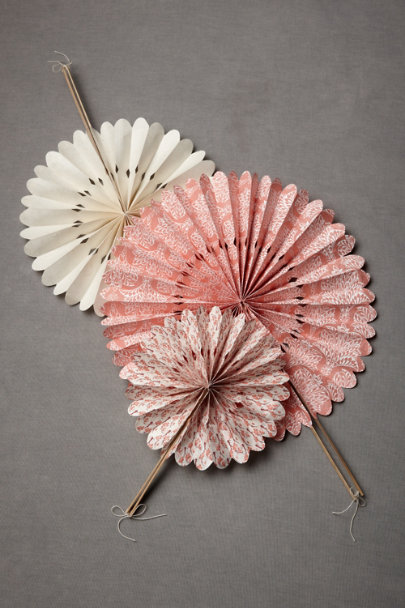 coral Crinkled Wheel Set (12) | BHLDN