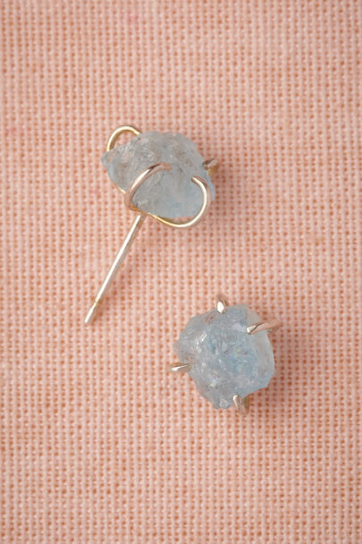silver Silver Tendrils Studs | BHLDN