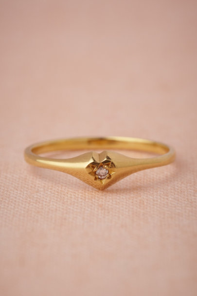yellow gold Heart's Devotion Ring | BHLDN