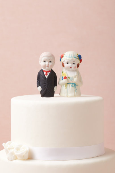 multi Newlyweds Cake Topper | BHLDN