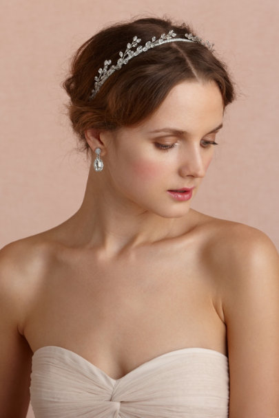 silver Catkins Headband | BHLDN