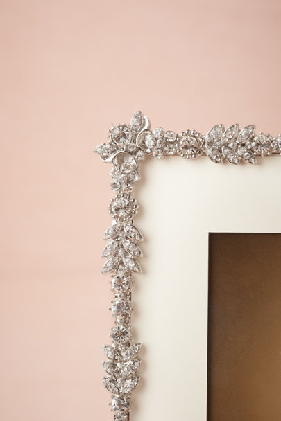 silver Crystal Clematis Frame | BHLDN
