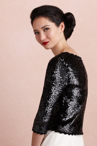 Yoana Baraschi black Finery Cardigan | BHLDN