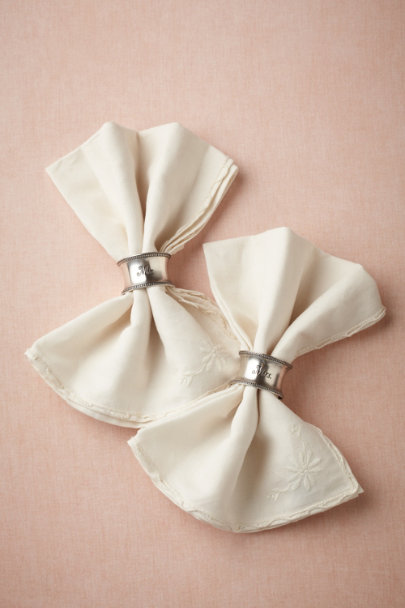 silver Sweethearts' Napkin Rings (2) | BHLDN