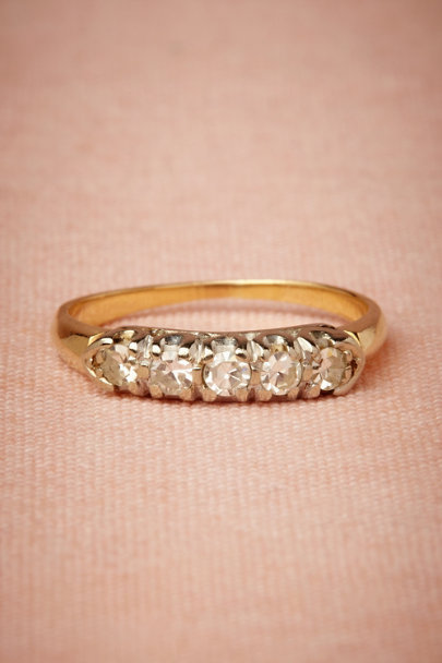 gold Perfect Fifth Ring | BHLDN