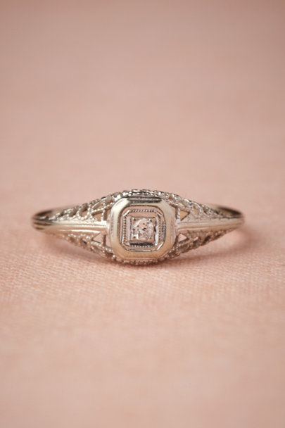 white gold Lyrical Framework Ring | BHLDN