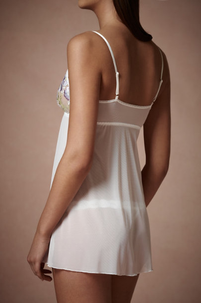 Ivory Morning Glory Chemise | BHLDN