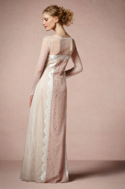 Ivory Lace Inlay Dress | BHLDN