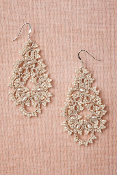 L'Orina ivory Curvature Earrings | BHLDN