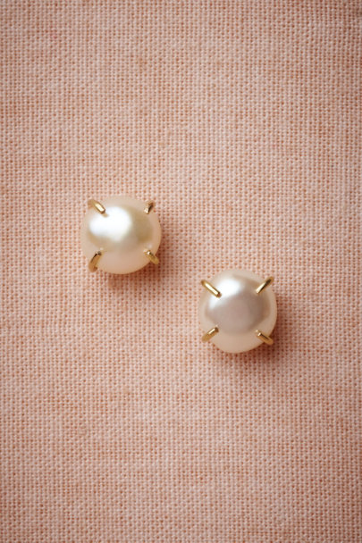 Melissa Joy Manning pearl Sea Tendrils Studs | BHLDN