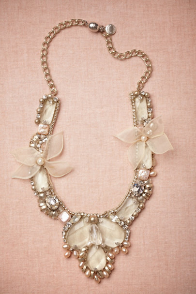 Ranjana Khan neutral motif Plumeria Blossoms Necklace | BHLDN