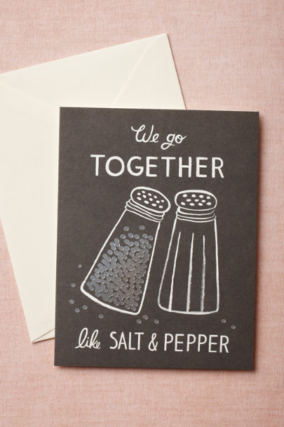 Rifle Paper Co. black We Go Together Card | BHLDN