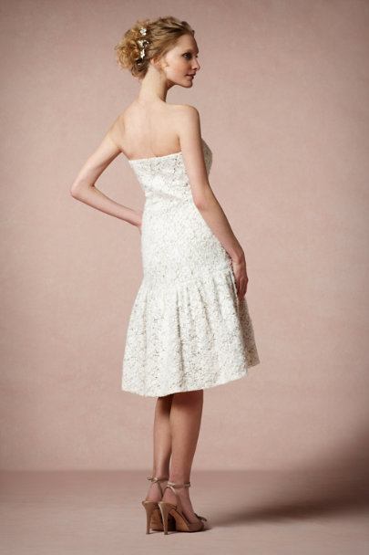Badgley Mischka Ivory Calla Lily Dress | BHLDN