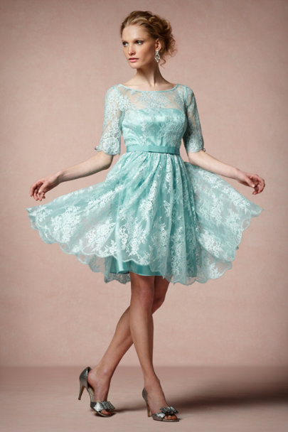 Turquoise Tea Rose Dress | BHLDN