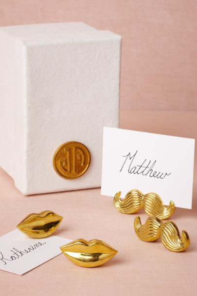 Jonathan Adler gold Loquacious Place Card Holders (4) | BHLDN