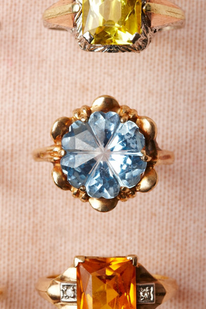 blue Blue Flower Ring | BHLDN