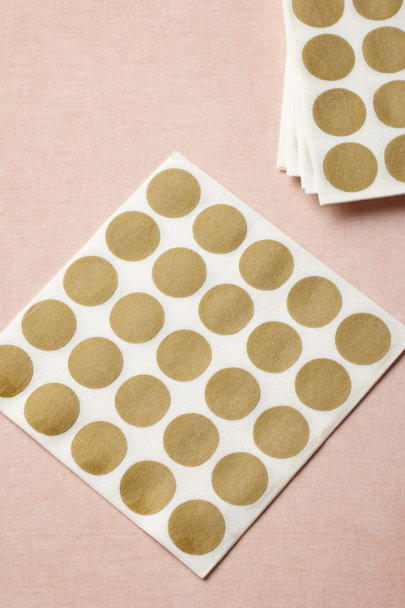 gold Circles-Meet-A-Square Napkins, Dinner (20) | BHLDN