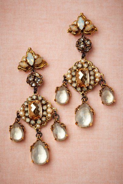 Erickson Beamon gold Dynastic Earrings | BHLDN
