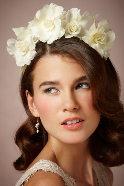 ivory Magnolia Headband | BHLDN