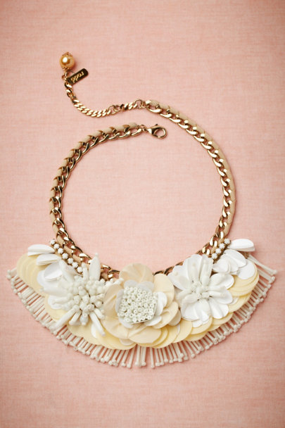 Radà white Botanical Bib Necklace | BHLDN