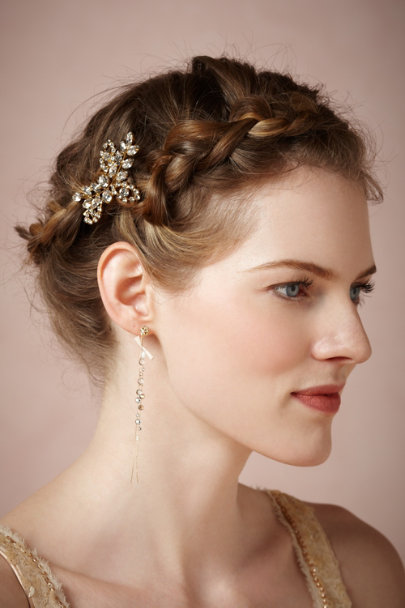 Jennifer Behr antique gold Primrose Hairpin | BHLDN