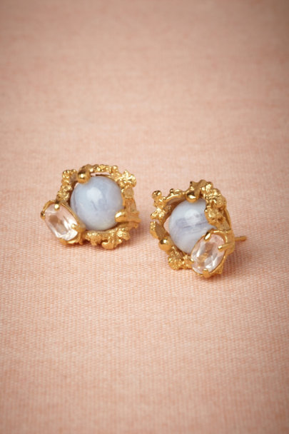 Cristina Zazo pink/rose Druzy Earrings | BHLDN