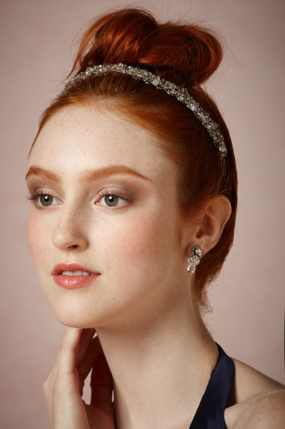 St. Erasmus crystal Asteria Headband | BHLDN