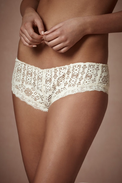 Elise Aucouturier Ivory Lace Sampler Knickers | BHLDN