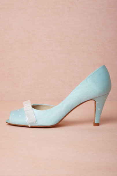 blue Piccadilly Pumps | BHLDN