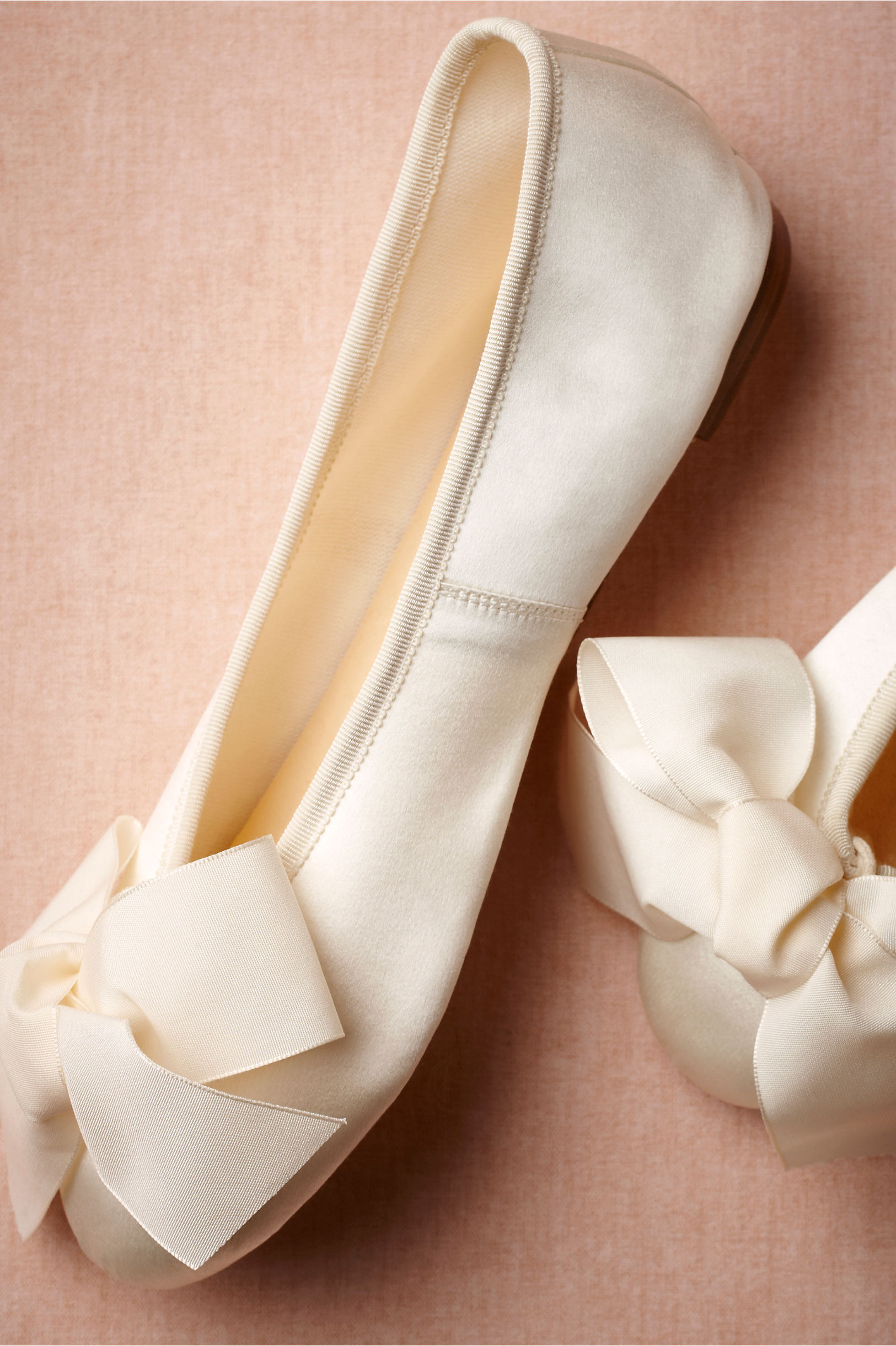 Satin Ballet Flats in Shoes & Accessories | BHLDN