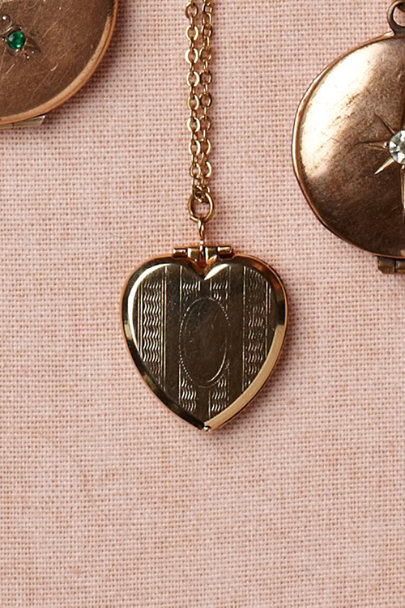 gold Vestibule Locket | BHLDN