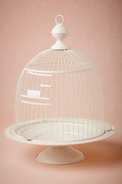 white Birdcage Envelope Holder | BHLDN