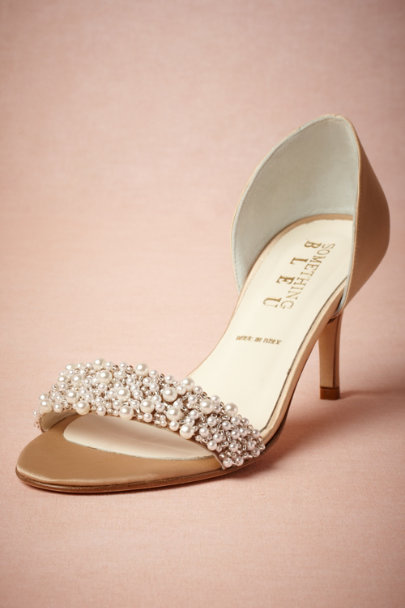 Something Bleu Beige Oyster Bed dOrsays | BHLDN