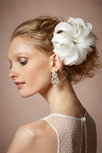 Twigs & Honey ivory Sparkling Peony Comb | BHLDN