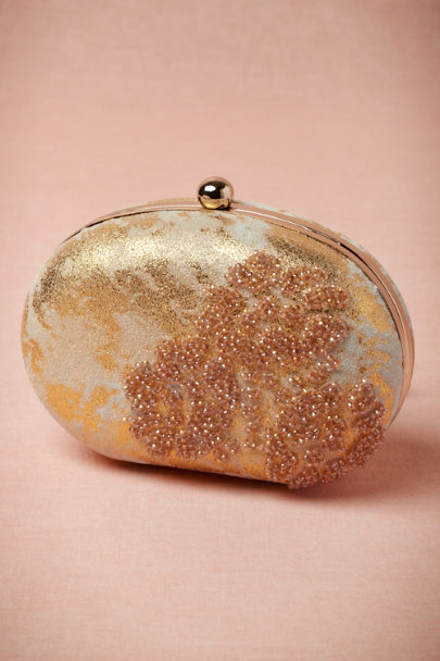 gold Gilded Lava Clutch | BHLDN