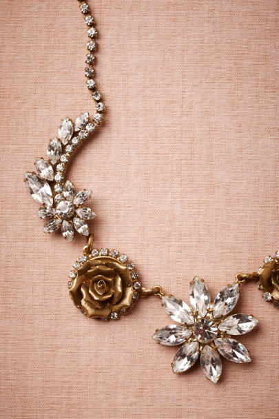 Elizabeth Cole gold Wild Rose Necklace | BHLDN