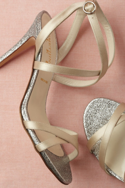 ivory Diamond-Dipped Heels | BHLDN