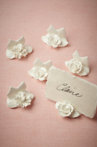 white Wildbloom Place Card Holders (6) | BHLDN