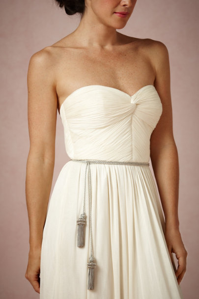 Badgley Mischka silver Neoclassical Sash | BHLDN