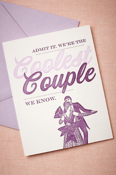 purple Coolest Couple Card | BHLDN